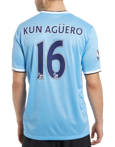 Nike Manchester City 2013/14 Kun Aguero Home Shirt
