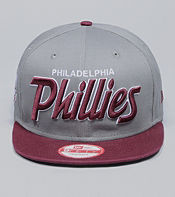 New Era MLB Philadelphia Phillies Script Snapback Cap