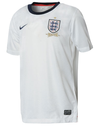 Nike England 2013/14 Junior Home Shirt