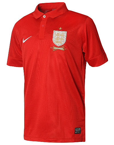 Nike England 2013/14 Junior Away Shirt