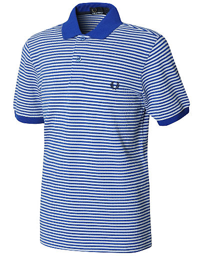 Fred Perry Fine Stripe Polo Shirt Junior