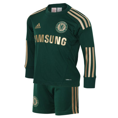 adidas Chelsea Home Goalkeeper Kit - Childrens