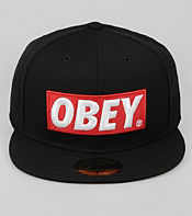 Obey x New Era Classic Bar Fitted Cap