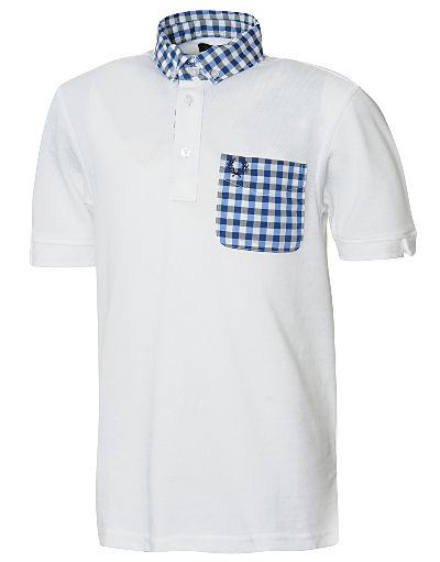 Fred Perry Gingham Trim Polo Shirt Junior