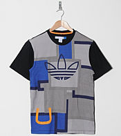 adidas Originals Blue Trefoil Patchwork T-Shirt