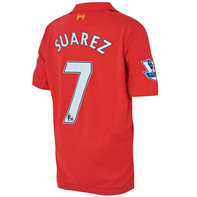 Warrior Sports Liverpool Home Shirt Luis Suarez