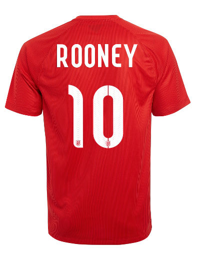 Nike England 2014 Junior Rooney Stadium Away Shirt