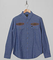 Obey Long Sleeve Mesa Chambray Shirt