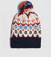 Penfield Jarrow Fairisle Bobble Hat