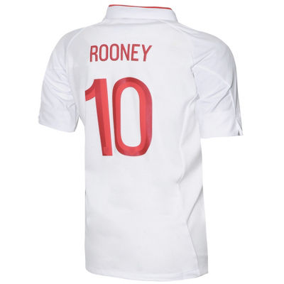 Junior Umbro England Home Shirt 2012 - Rooney