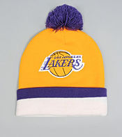 Mitchell & Ness Los Angeles Lakers NBA Stripe Bobble Hat