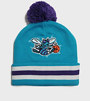 Mitchell & Ness Charlotte Hornets NBA Stripe Bobble Hat