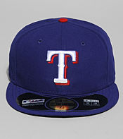 New Era Authentic MLB Texas Rangers 59FIFTY Fitted Cap