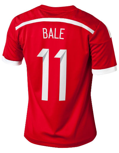 adidas Wales 2014 BALE 11 Junior Home Shirt