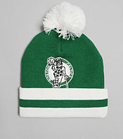 Mitchell & Ness Boston Celtics NBA Stripe Bobble Hat