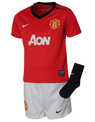 Nike Manchester United 2013/14 Infants Home Kit