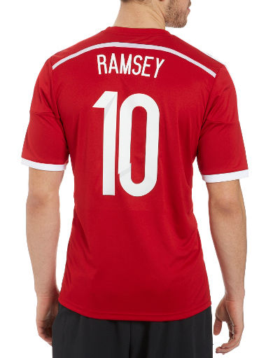 adidas Wales 2014 Ramsey 10 Home Shirt