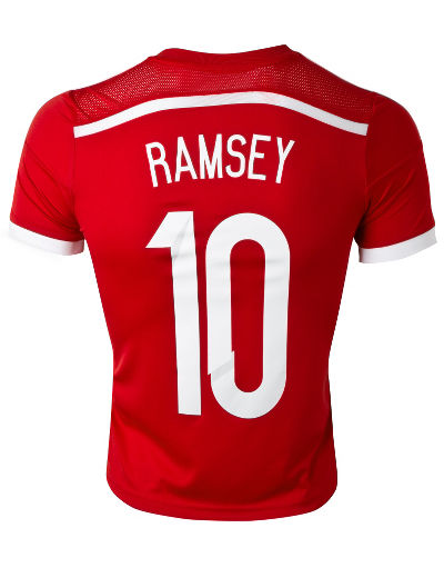 adidas Wales 2014 Ramsey 10 Junior Home Shirt