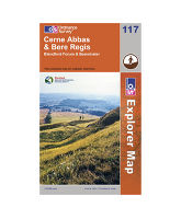 Explorer 117 Cerne Abbas & Bere Regis Area Map