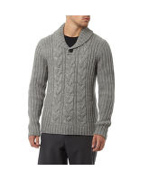 Men's Cowl Neck Knit Jumper