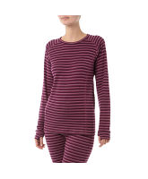 Women's Stripe Thermal Base Layer Top