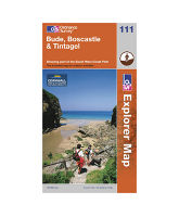 Explorer 111 Bude, Boscastle & Tintagel Map
