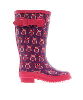 Girl's Owl Wellies