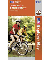 Explorer 112 Lanceston & Holsworthy Map