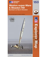 Explorer 153 Weston-super-Mare & Bleadon Hill Map