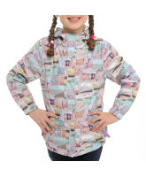 Girl's Postcard Waterproof Jacket