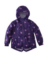 Girl's Star Parka-in-a-Pack