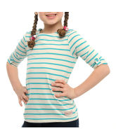 Girl's Breton 3/4 Sleeve T-Shirt