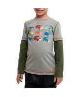 Boy's Car Print Long Sleeve T-Shirt