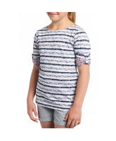 Girl's 3/4 Sleeve Reverse Print T-Shirt