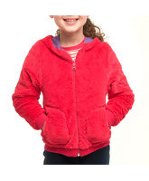 Girl's Fluffy Velsoft Hooded Jacket
