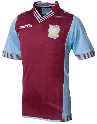 Buy Macron Aston Villa 2013/14 Junior Home Kit