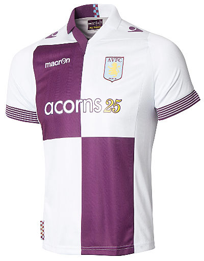 Macron Aston Villa 2013/14 Junior Away Shirt