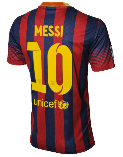 Nike Barcelona 2013/14 Junior Messi Home Shirt
