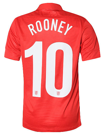 Nike England 2013/14 Rooney Junior Away Shirt