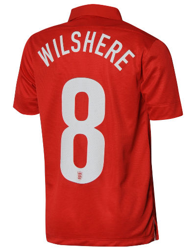 Nike England 2013/14 Junior Wilshere Away Shirt