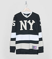 Starter Black Label x size? NY Black Yankees Hockey Jers