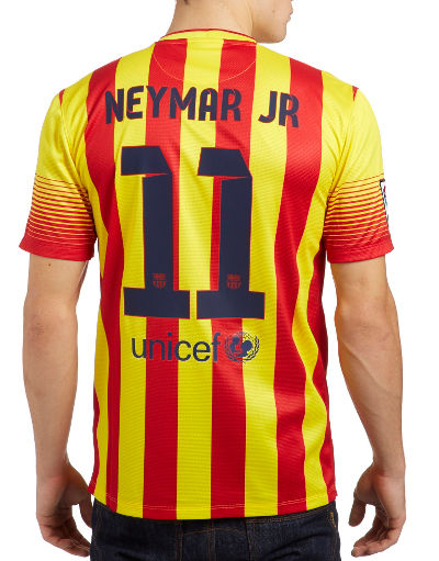 Nike FC Barcelona 2013 Away Shirt Neymar