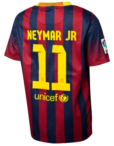 Nike FC Barcelona 2013 Home Shirt Neymar Junior