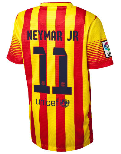 Nike FC Barcelona 2013 Away Shirt Neymar Junior