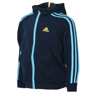Adidas  Essentials 3 Stripe Hoody Childrens