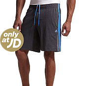 adidas Essentials 3 Stripe Jersey Shorts