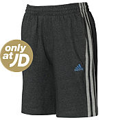 adidas Essentials 3 Stripe Jersey Shorts Junior