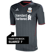 adidas Liverpool Away Shirt 2011/12 - Suarez
