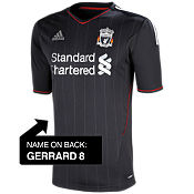 adidas Liverpool Away Shirt 2011/12 - Gerrard