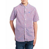 Fred Perry Gingham Short Sleeve Shirt Junior